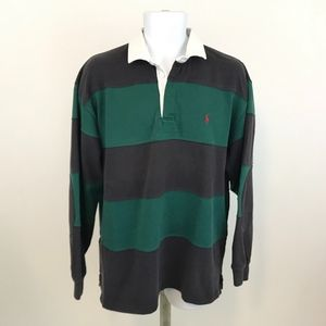 Polo by Ralph Lauren Striped  Rugby Shirt Size L